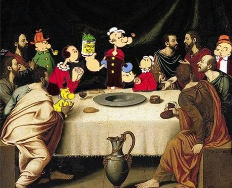 Popeye Cartoon Characters Reimagined In Famous Paintings