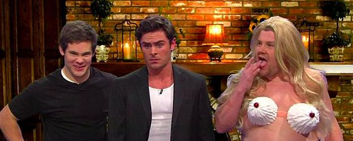 James Corden and Zac Efron Late Late Show
