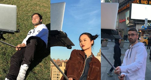 MacBook Selfie Stick canvas