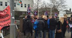 protest, strike, lecturers, college, scotland