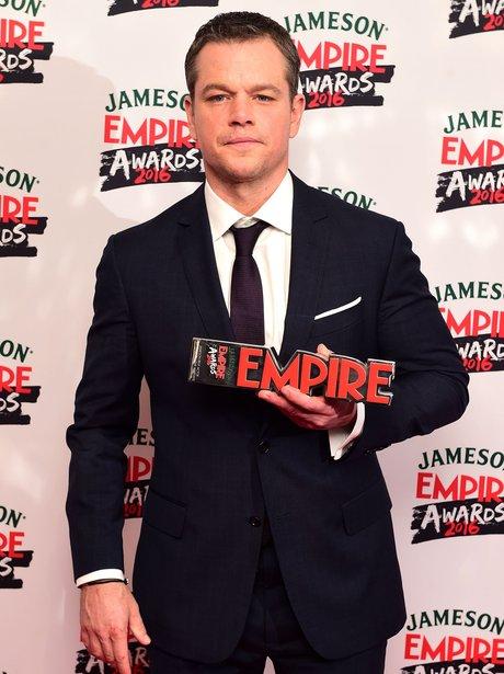 Matt Damon with an Empire Award 2016