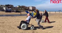 Beach Wheelchair at Polzeath