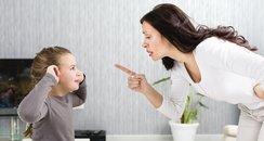 Parent telling off child