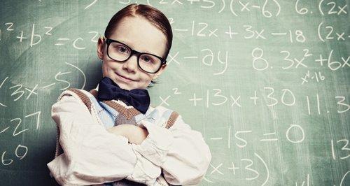 kid doing algebra