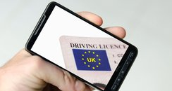 Smartphone with driving license