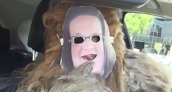 chewbacca wears chewbacca mum mask