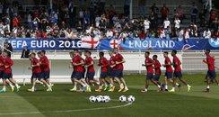 England training Euro 2016