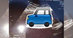 car baby scan canvas