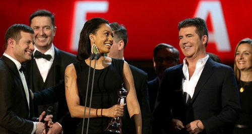 Mel B and Simon Cowell