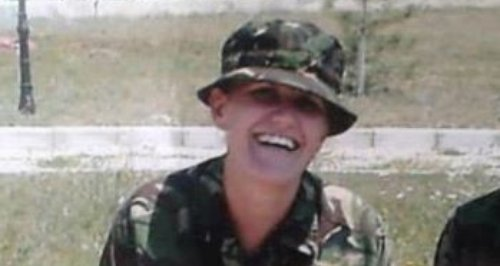 Staff Sergeant Sharron Elliott in Kosovo. She was