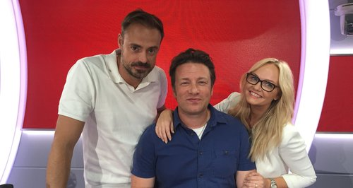 Jamie And Emma With Jamie Oliver