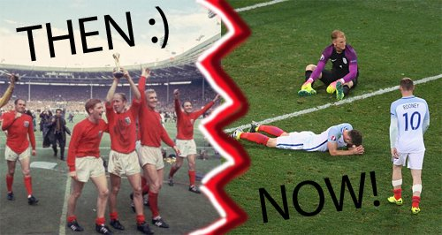 The and Now England football nostalgia