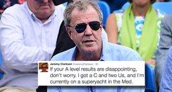 A Level results jeremy Clarkson