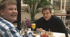 James Corden with Meatloaf