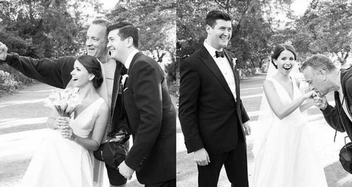 Tom Hanks crashes couples wedding photos