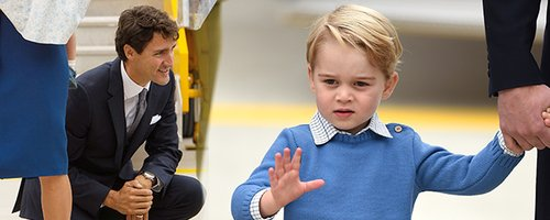 Watch An Unimpressed Prince George Leave Canadian