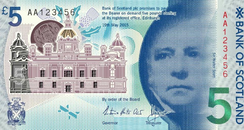 The new Bank of Scotland polymer five pound not