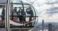 The royals on the London Eye