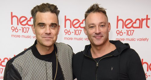 Toby Anstis and Robbie Williams heart
