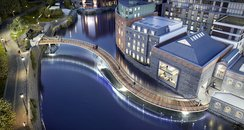 Finzels Reach Bridge, Bristol. CGI