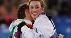 Jade Jones with her second Olympic godl medal