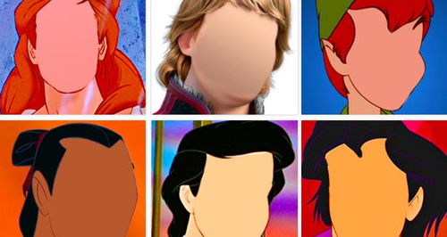Disney princes without their faces