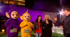 Holly Willoughby Teletubbies bum pinch