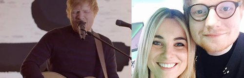 Ed Sheeran and Sian Welby