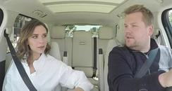 James Corden and Victoria Beckham Carpool