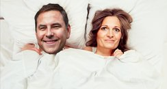 David Walliams in bed with Ros from Heart Breakfas