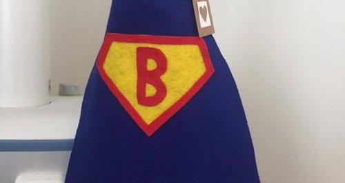 Superhero baby cape