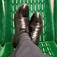 Feet On Train Seats