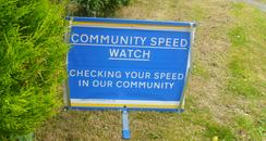 Speed watch sign
